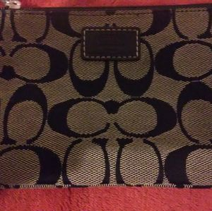 Coach Wristlet *black and gray Signature~ used 1X!